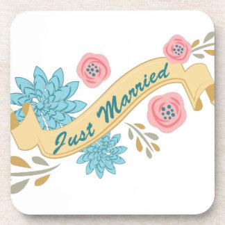 Just Married Beverage Coaster