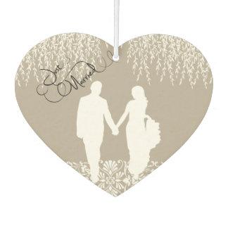 Just Married Bride and Groom Car Air Freshener