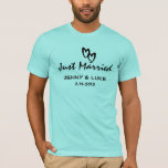 Just Married Bride and Groom T-Shirt