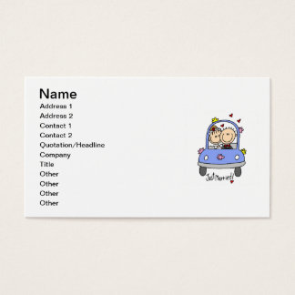 Just Married Bride and Groom T-shirts and Gifts Business Card