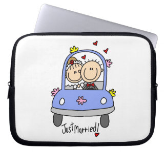 Just Married Bride and Groom T-shirts and Gifts Laptop Computer Sleeve