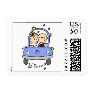 Just Married Bride and Groom T-shirts and Gifts Postage