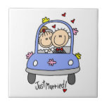 Just Married Bride and Groom T-shirts and Gifts Tiles