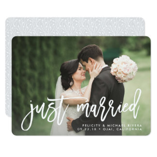 Just Married Invitations Announcements Zazzle