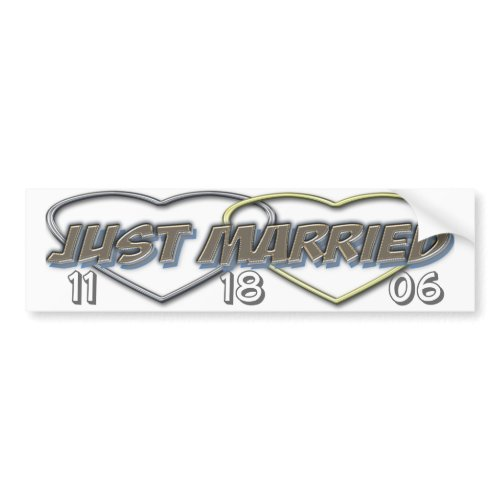 Just married bumper (change the date ) bumpersticker