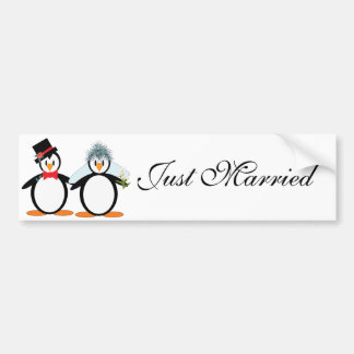 Just Married Bumper Stickers