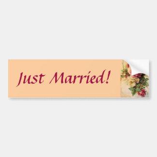 Just Married! Bumper Sticker