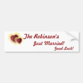 Just Married Bumper Sticker-Customize Bumper Sticker