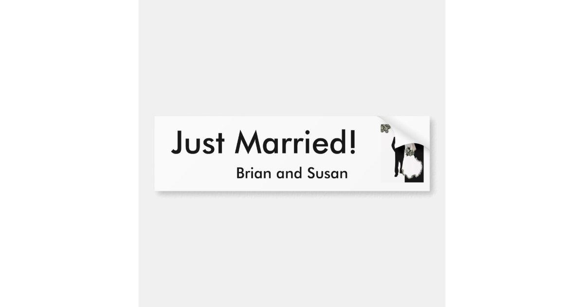 just married bumper sticker template. Black Bedroom Furniture Sets. Home Design Ideas