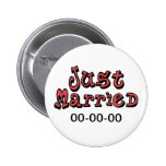 Just Married Button