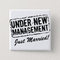 Just Married button | Under New Management