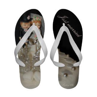 just married flip flops just married sandal footwear for. Black Bedroom Furniture Sets. Home Design Ideas