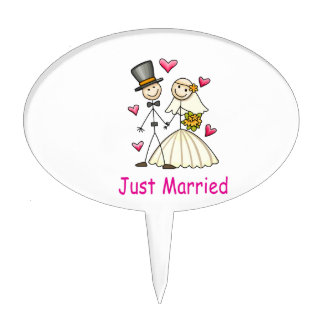 Just Married Cake Toppers