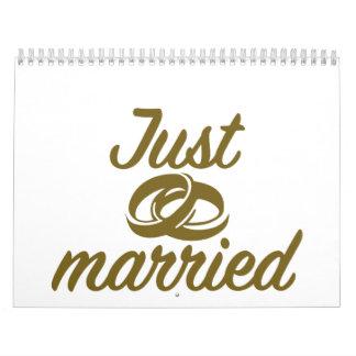 Just married calendar