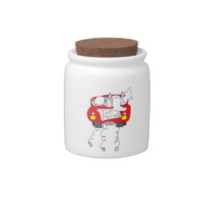 Just Married Candy Jars at Zazzle