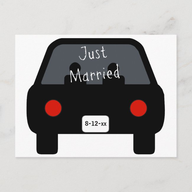 Just Married Car Announcement Postcard