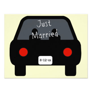 Just Married Car Announcements