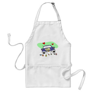 Just Married Car Aprons
