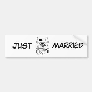 """Just Married"" Car Bumper Sticker"