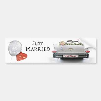 Just Married Car Bumper Sticker
