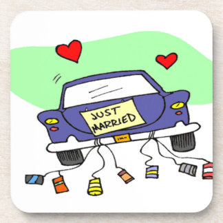 Just Married Car Coaster