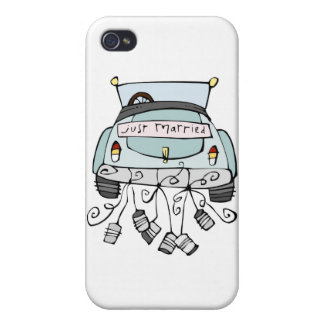 Just married car dragging cans iPhone 4/4S covers
