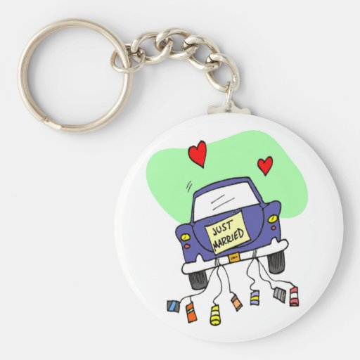 Just Married Car Key Chain
