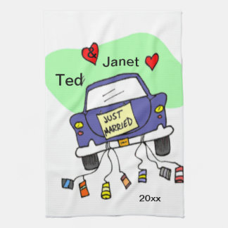 Just Married Car Kitchen Towel