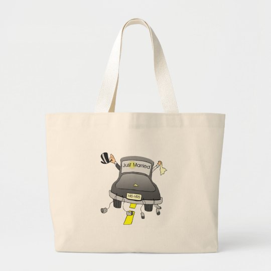 Just Married (Car) Large Tote Bag