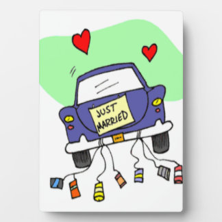 Just Married Car Plaque
