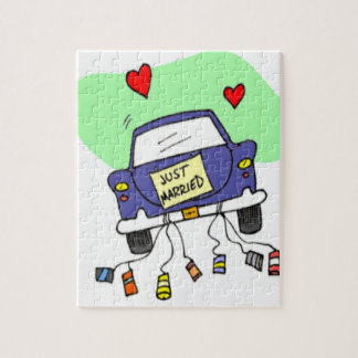 Just Married Car Puzzle