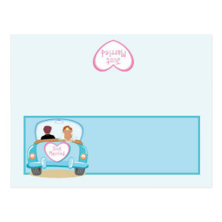 Just Married Car Wedding Writable Place Card