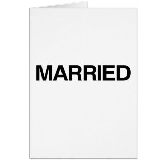 (Just) MARRIED Card