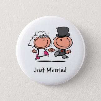Just Married cartoon Button