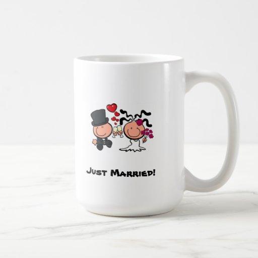 Just Married cartoon Mug