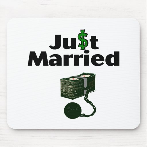 Just Married Cash and Chain Mouse Pad