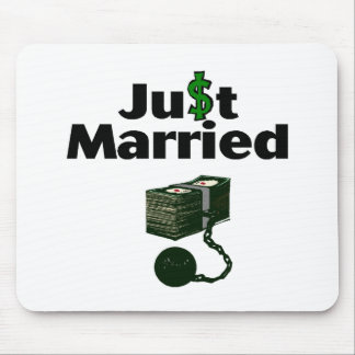 Just Married (Cash) Mouse Pad