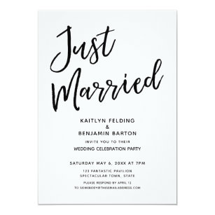 casual reception wedding invitations zazzle