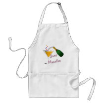 Just Married Champagne Wedding Toast Adult Apron