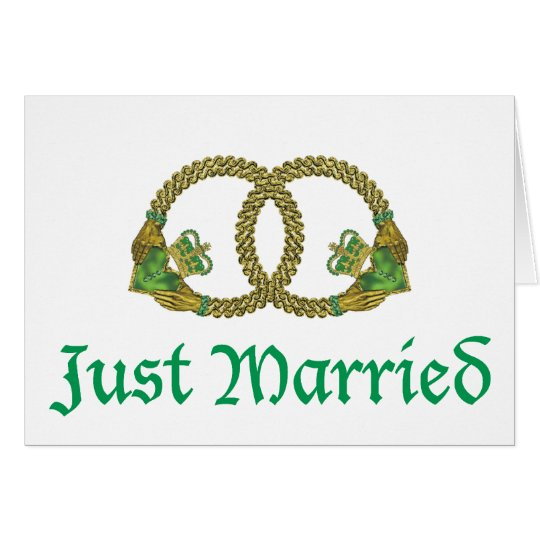 Just Married Claddagh rings Card