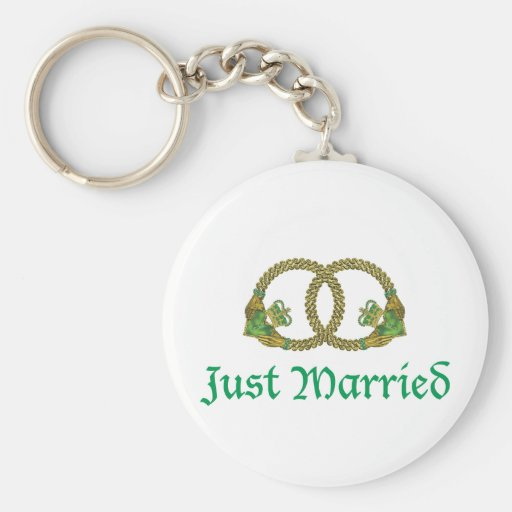 Just Married Claddagh rings Keychains