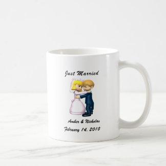 Just Married Classic White Coffee Mug