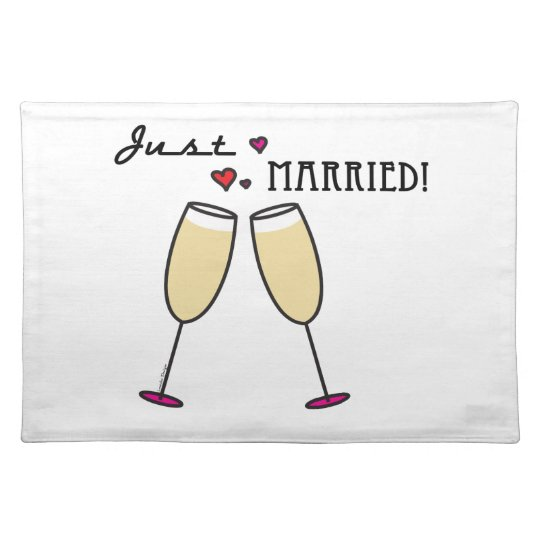 Just Married Cloth Placemat