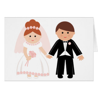 Just Married Couple Greeting Cards