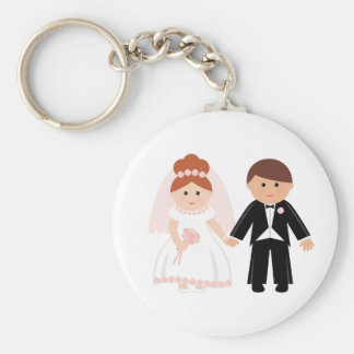 Just Married Couple Keychain