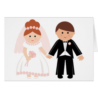 Just Married Couple Note Cards