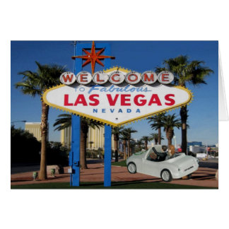 JUST MARRIED Couple saying good bye Las Vegas Card