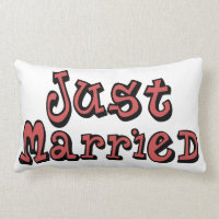 Just Married Customizable Lumbar Pillow