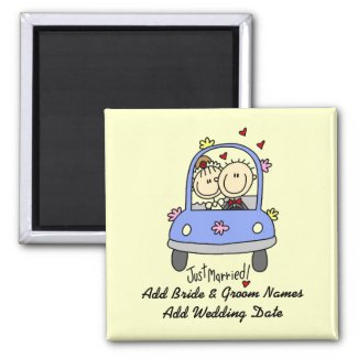 Just Married Customizable Magnet magnet