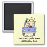 Just Married Customizable Magnet Refrigerator Magnet